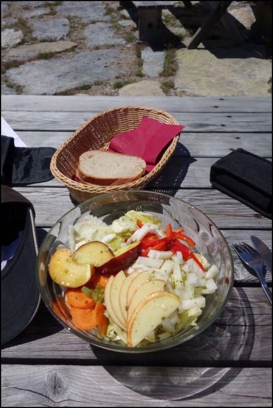 Petit luxe : des légumes. C'est bon.