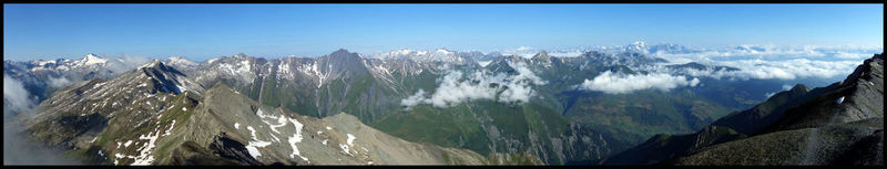 Panorama depuis le premier 3000 de la traversée